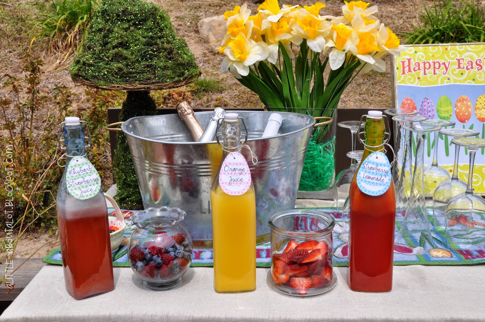 Easter Mimosa Bar | A little about a Lot