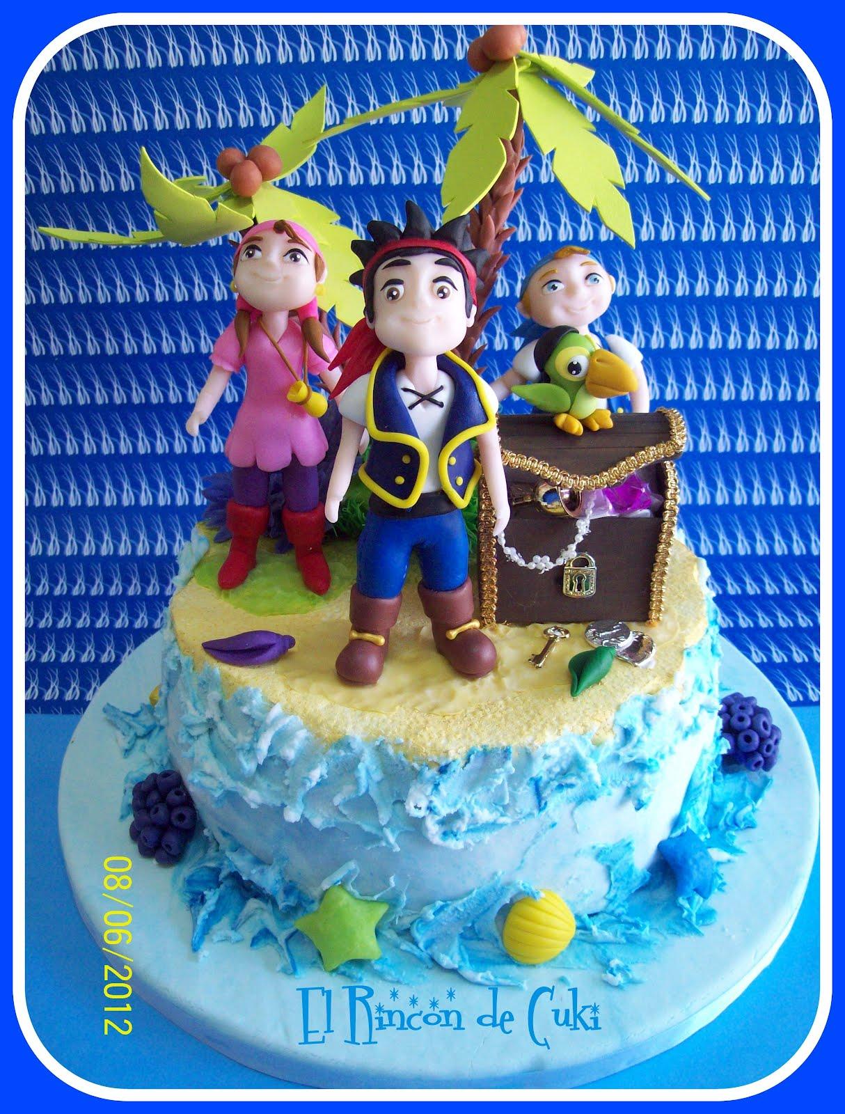 Torta Artesanal Jake Y Los Piratas Del Pa  S Del Nunca Jam  S