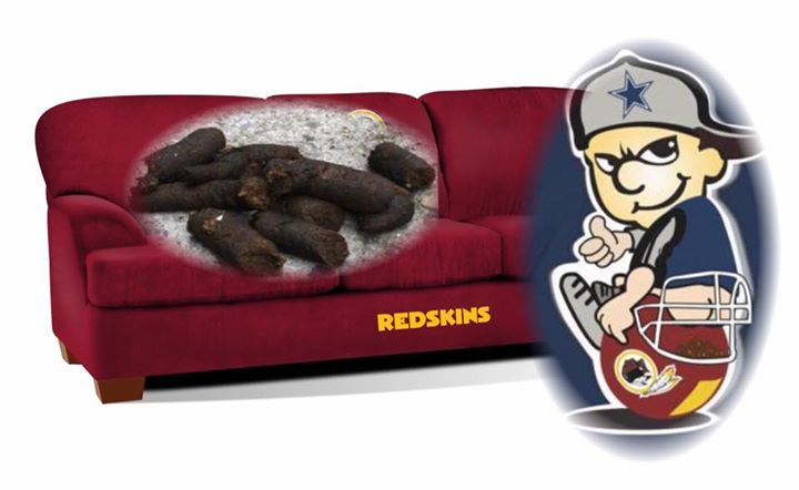 Cowboys shitting in redskins couch
