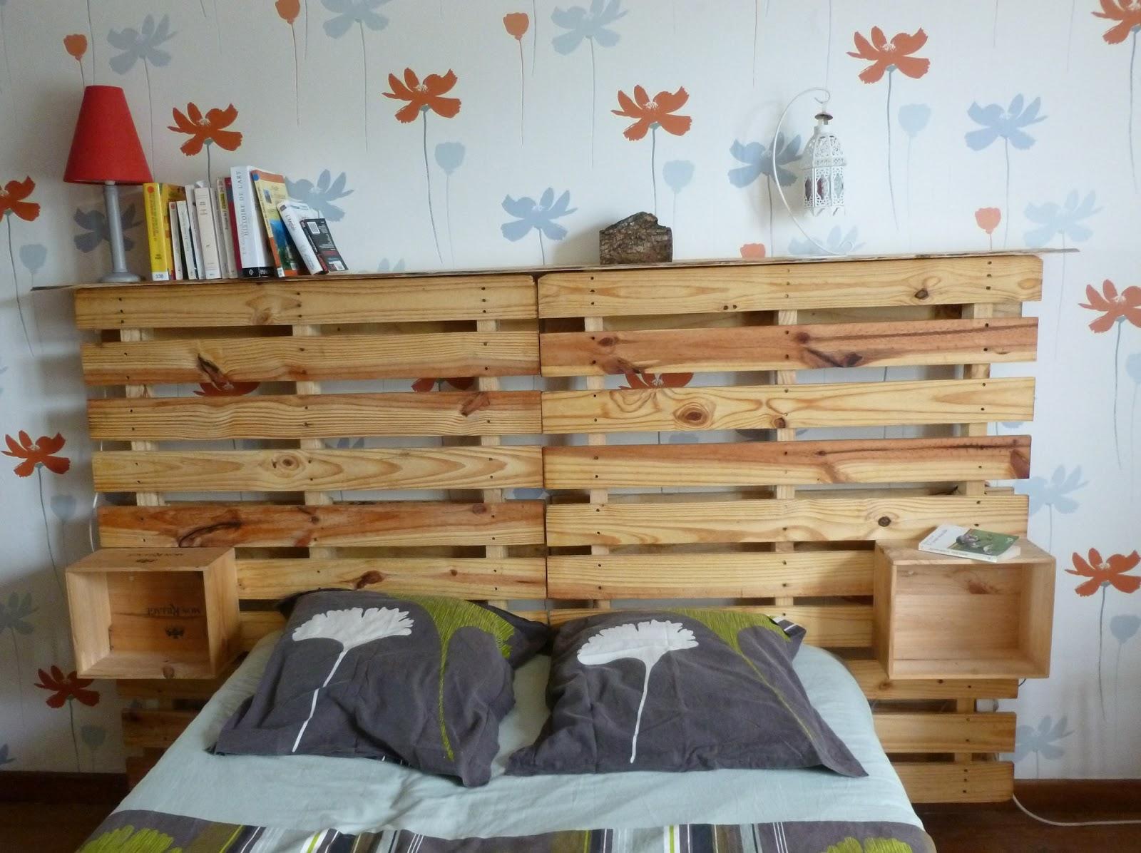 tete de lit bois palette - fashion designs