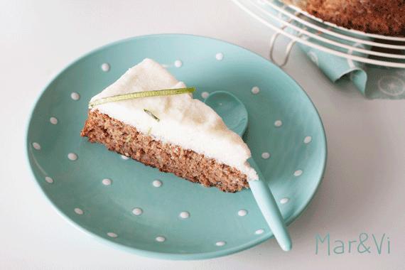 receta de tarta de calabacín, lima y nuez
