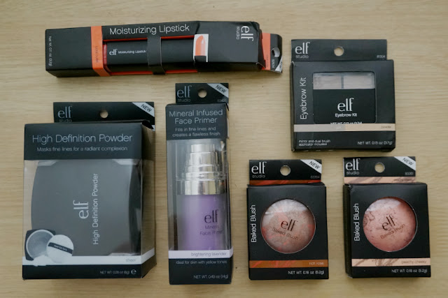 Haul: e.l.f. Studio Lipstick, Eyebrow Kit,  Baked Blush, Face Primer and HD Powder