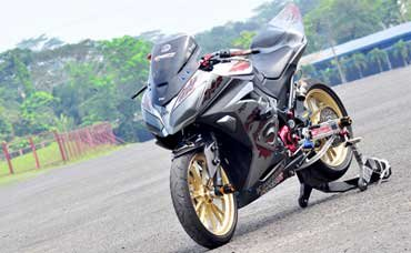 referensi modifikasi ninja 250 fi grey