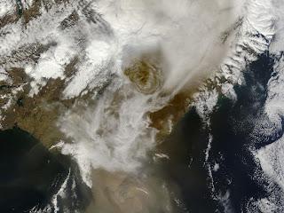 Извержение исландского вулкана Grimsvotn 21 мая 2011