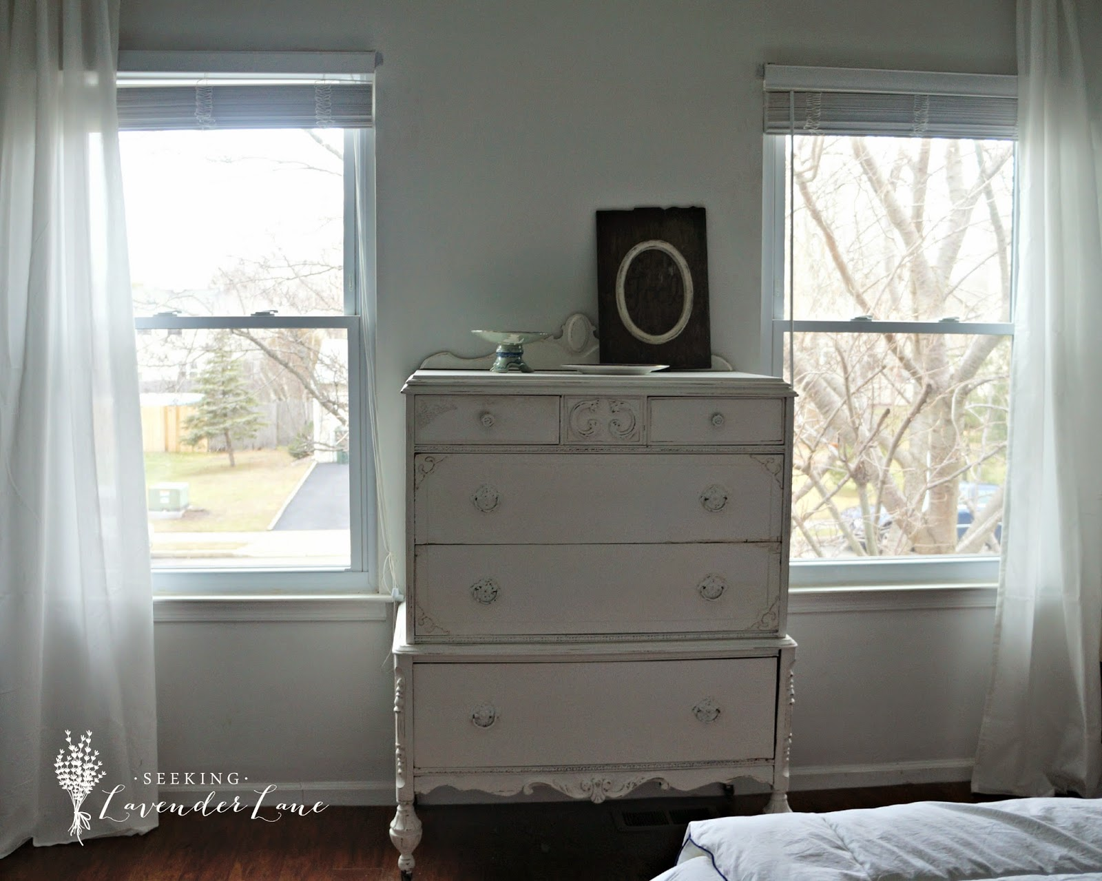 All White Dresser and Wall