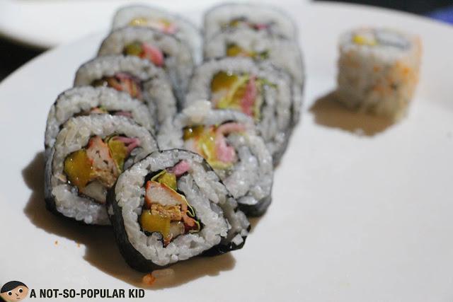 Sushi Rolls in Sparkz Restobar