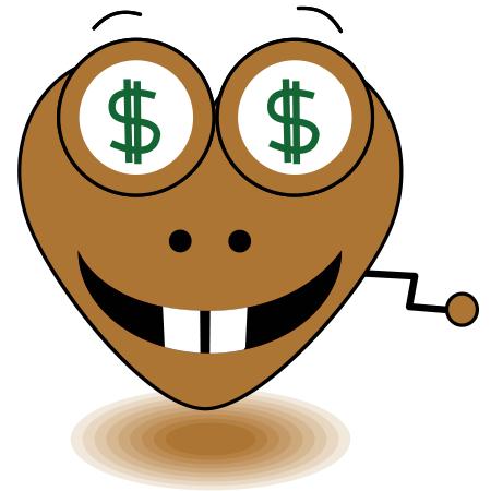 Money heart icon