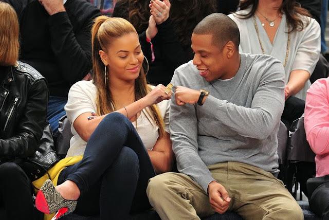 Jaz Z and Beyonce