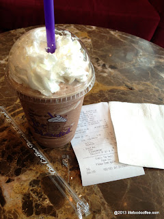 ice blended mocha from coffeebean bras basah road