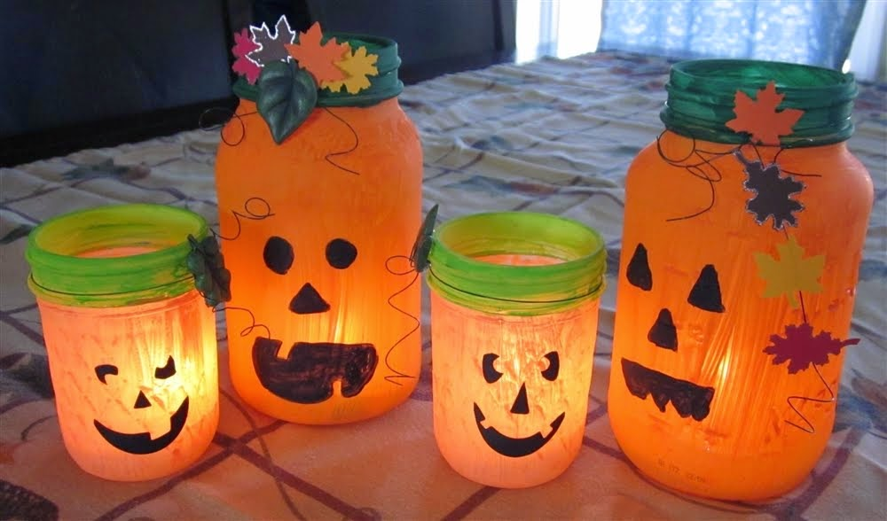 Pumpkin Mason Jar Lanterns