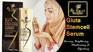 Al Razi Gluta Stemcell Serum merawat kulit