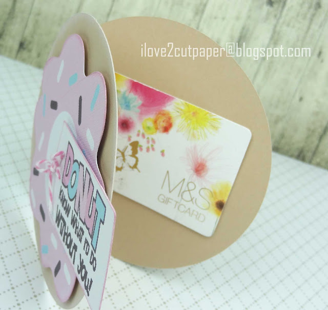 Lettering Delights, Pazzles, Pazzles Inspiration, Pazzles Inspiration Vue, Donut Gift Card Holder, cutting files, svg, donut shaped card