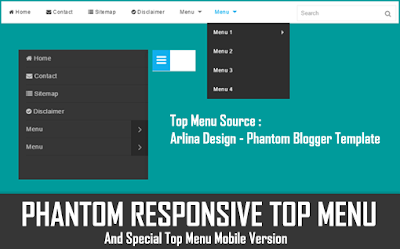 Phantom Responsive Top Menu
