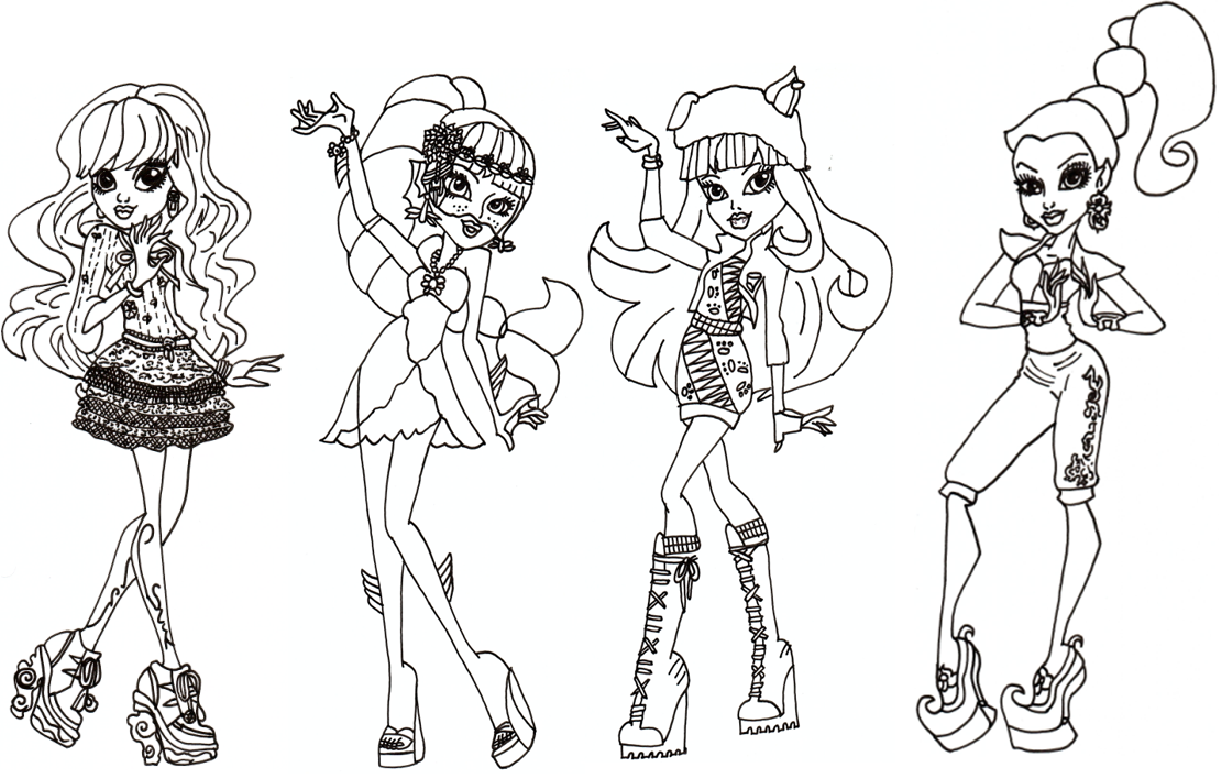 Free Printable Monster High Coloring Pages: Free Monster ...