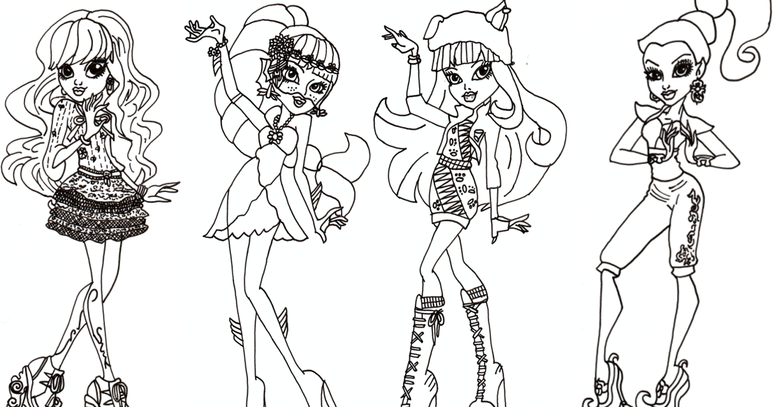 Free Printable Monster High Coloring Pages Free Monster High 13