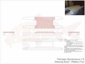 Standamaran SUP Plans Glassing Step 7