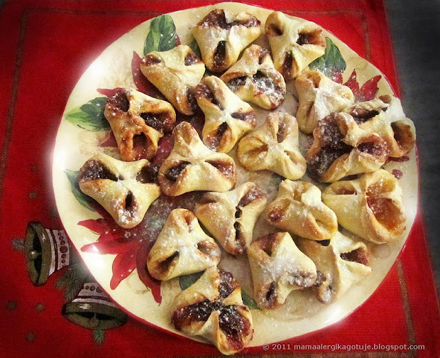 ciasteczka sakiewki z konfiturą