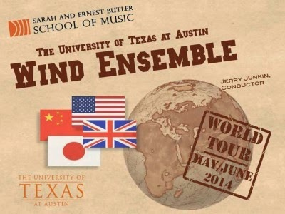 Univerity of Texas Wind Ensemble world tour