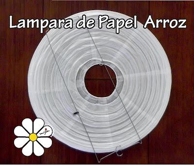 Creaciones myliu lampara de papel arroz - Lamparas de papel de arroz ...
