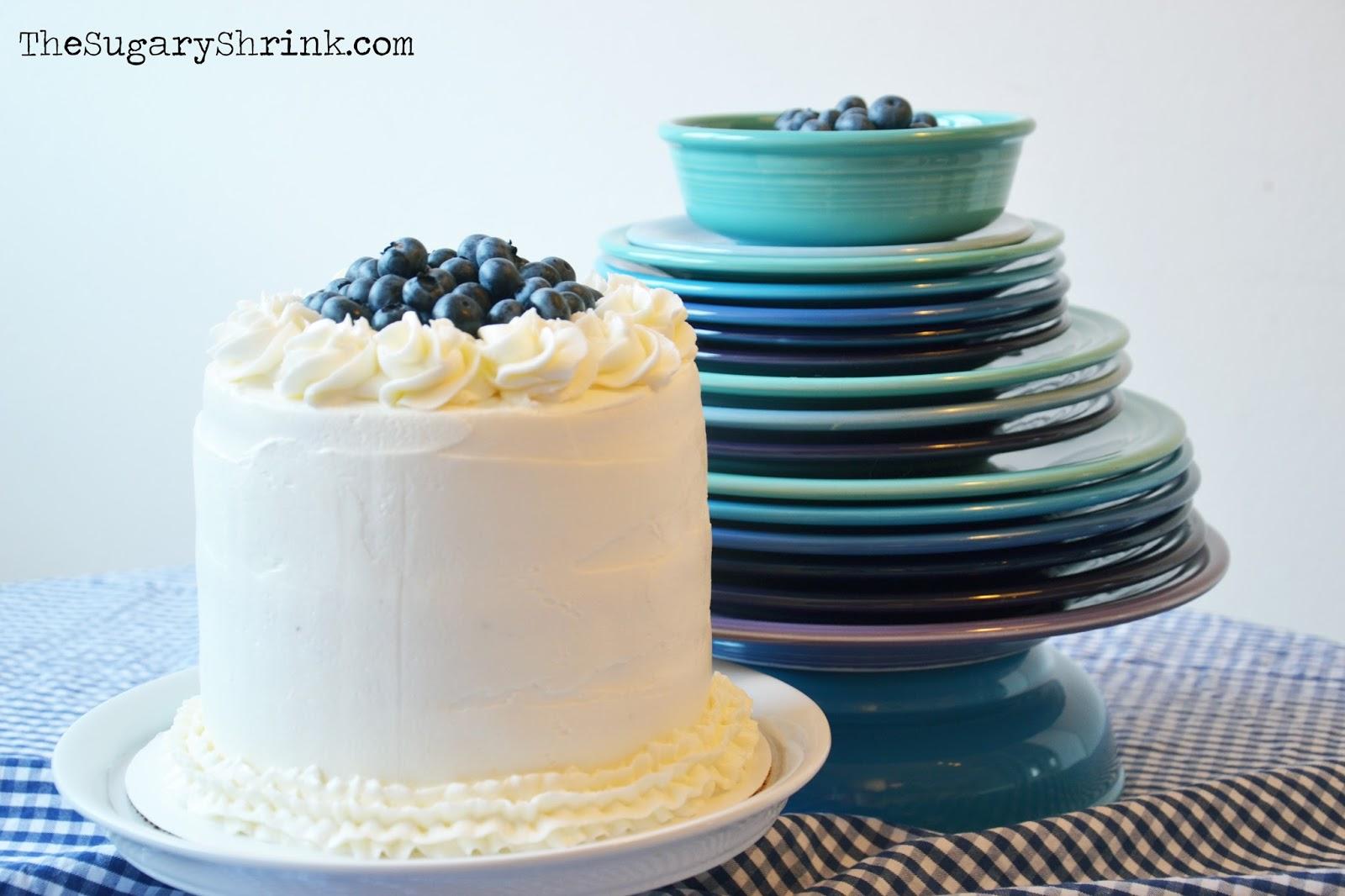 The Sugary Shrink: Vanilla Blueberry Cake