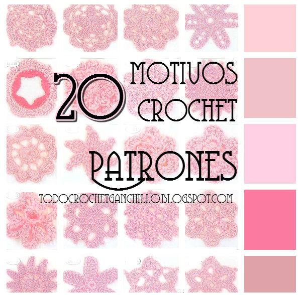 20 patrones gratis de motivos de flores y circulos ganchillo