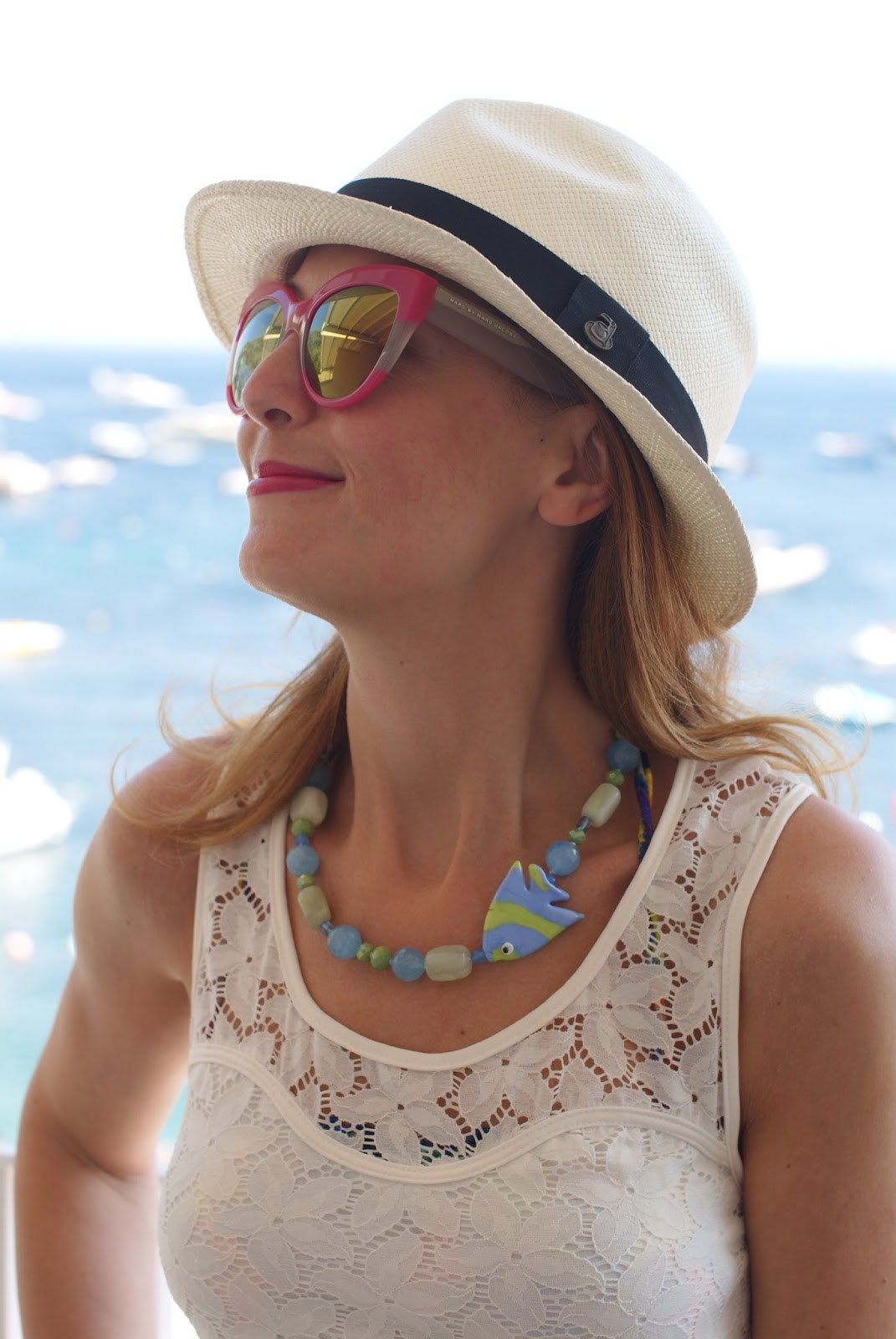 Ecua-Andino hat and fish necklace on Fashion and Cookies fashion blog, fashion blogger style