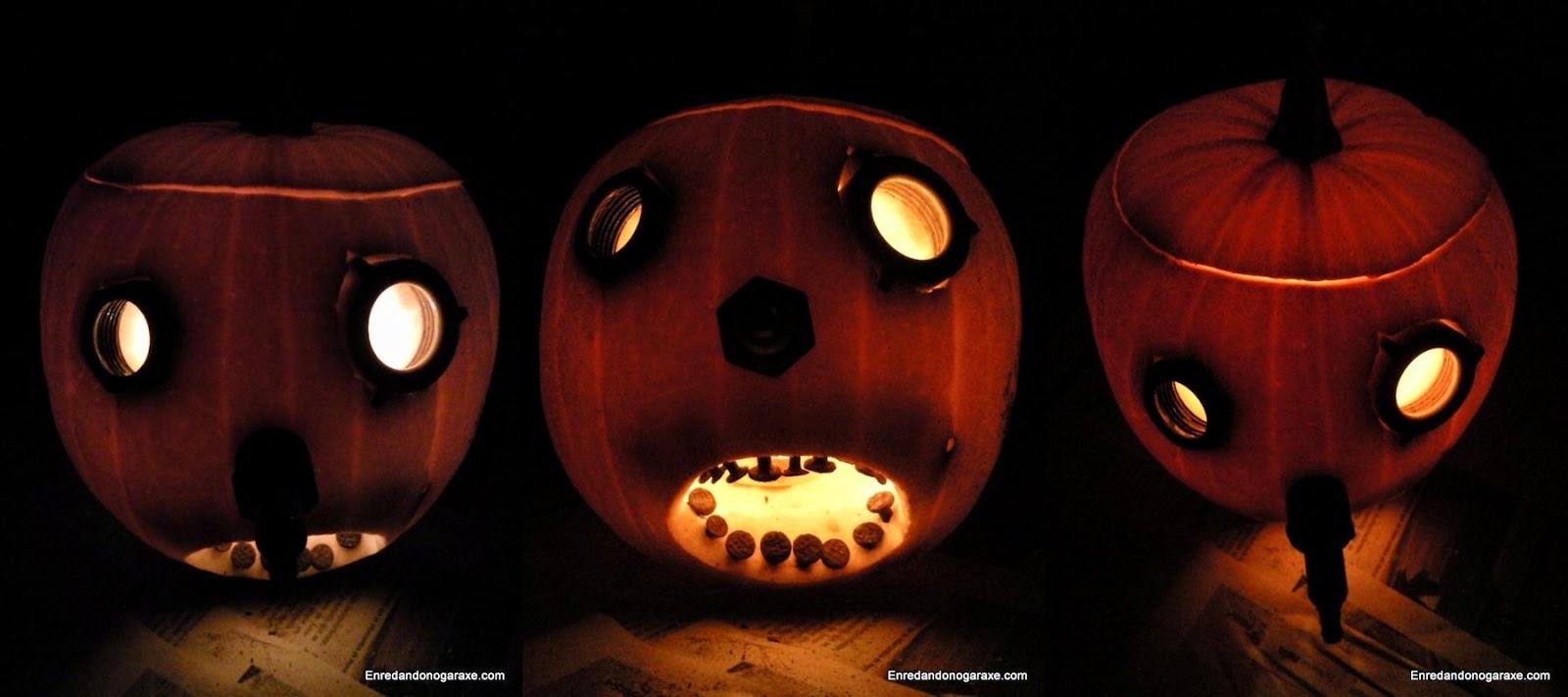 Linterna de Halloween. Enredandonogaraxe.com