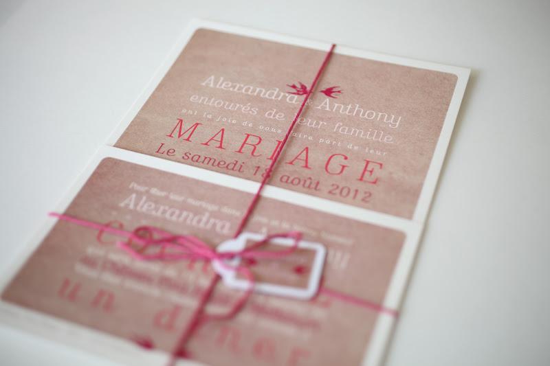 your beautiful days faire part de mariage vintage oiseaux. Black Bedroom Furniture Sets. Home Design Ideas