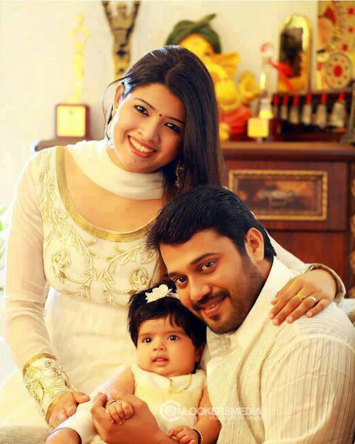 Actor Bala&Amrutha with their baby
