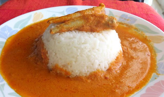 Fish curry Konkani style (Kane Alle Kande Ambat)