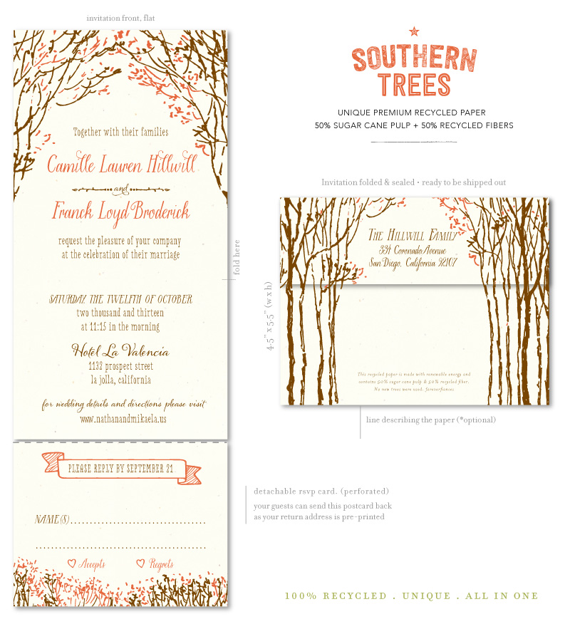 For Ever: Fall Theme Wedding Invitations, perfect your autumn ceremony!