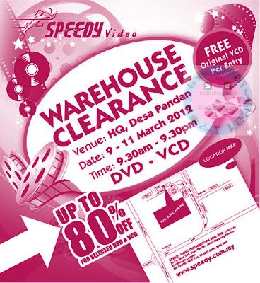 Speedy Video Warehouse Sale 2012