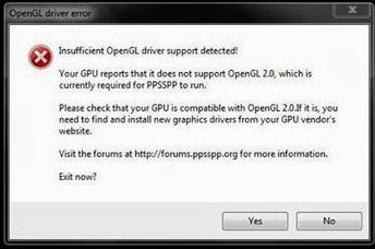 Cara Mengatasi Error Not Support OpenGL 2.0 Di Windows