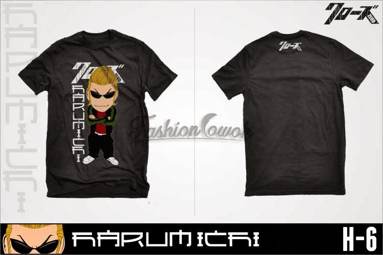 FASHIONCOWOK.com jual murah kaos T-Shirt Crows Zero Harumichi Chibi | jaket national geographic kaos crows zero |kemeja korean style blazer korea