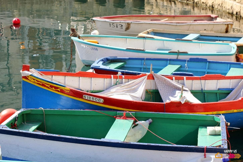 Malte - bateaux colorés