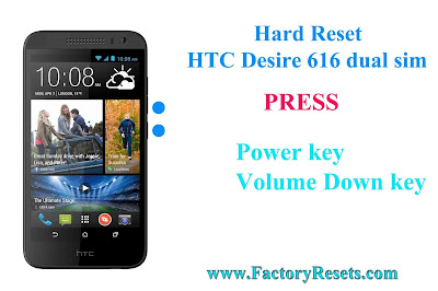 Hard Reset HTC Desire 616 dual sim
