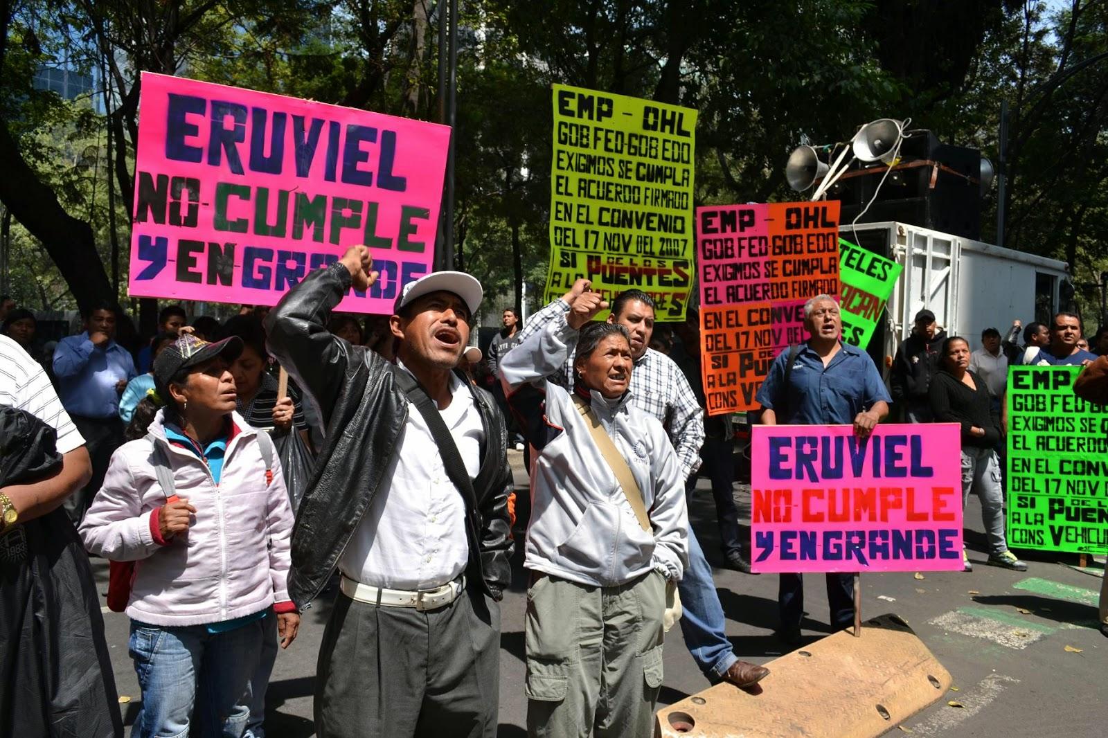 Campesinos exigen que se les liquiden pagos por sus tierras