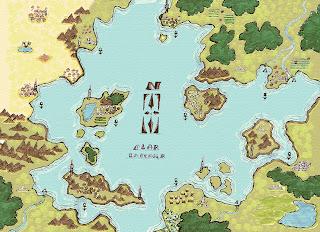Mapa de escenario de Campaña para Microlite D20 , El Mar interior