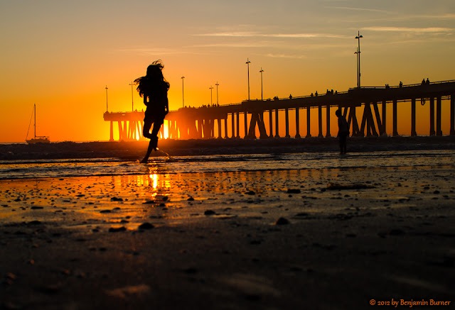 Venice Beach Pier at Sunset