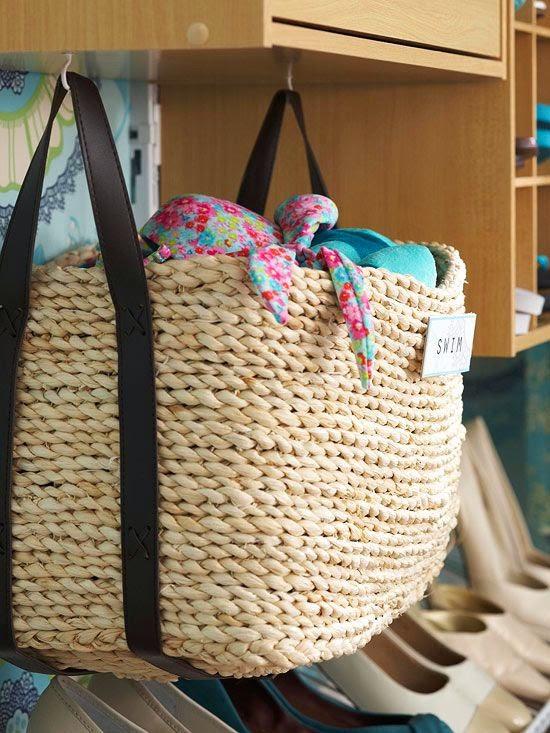 basket storage for closets