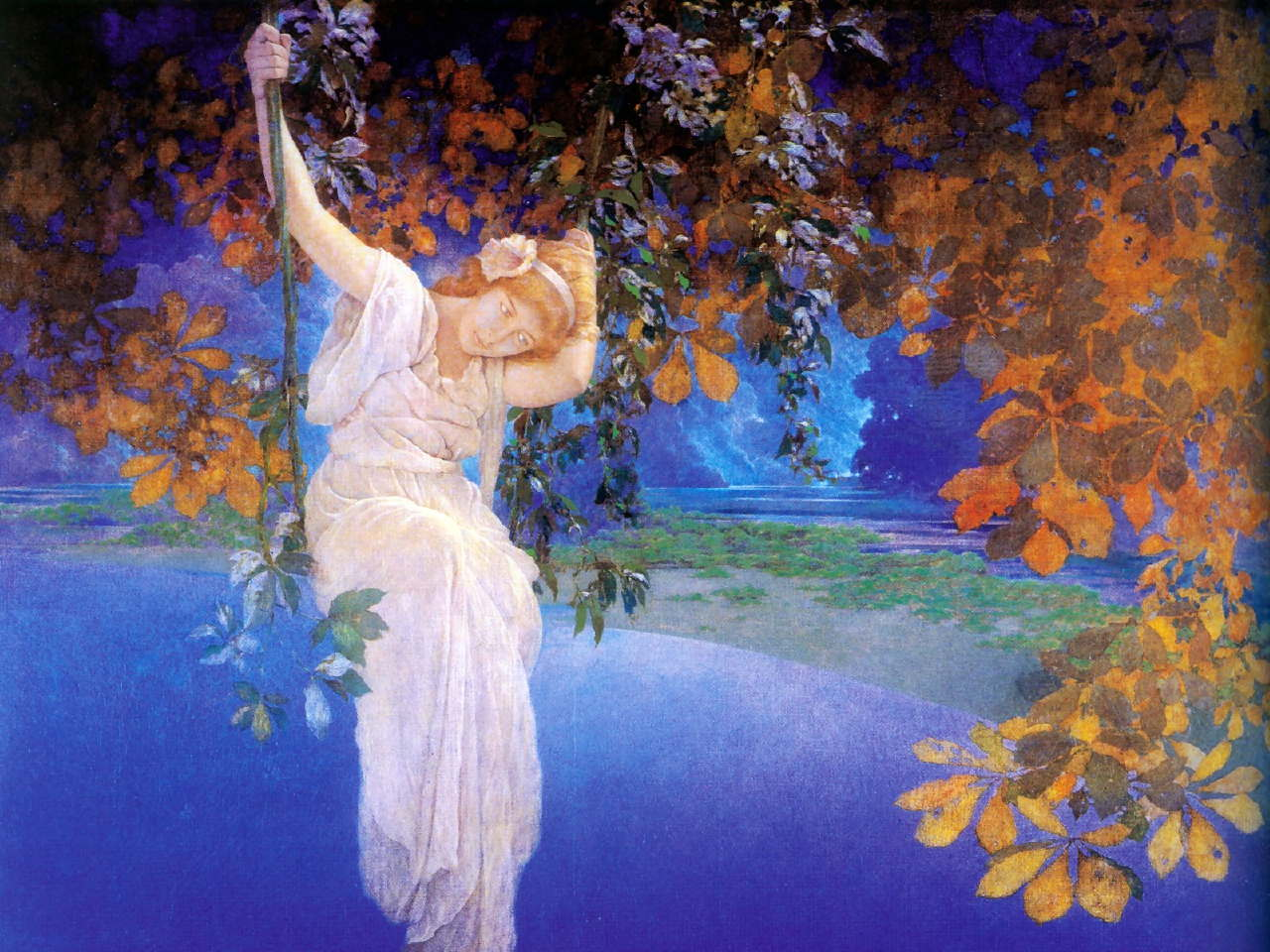 Friday feature maxfield parrish for Making prints of paintings