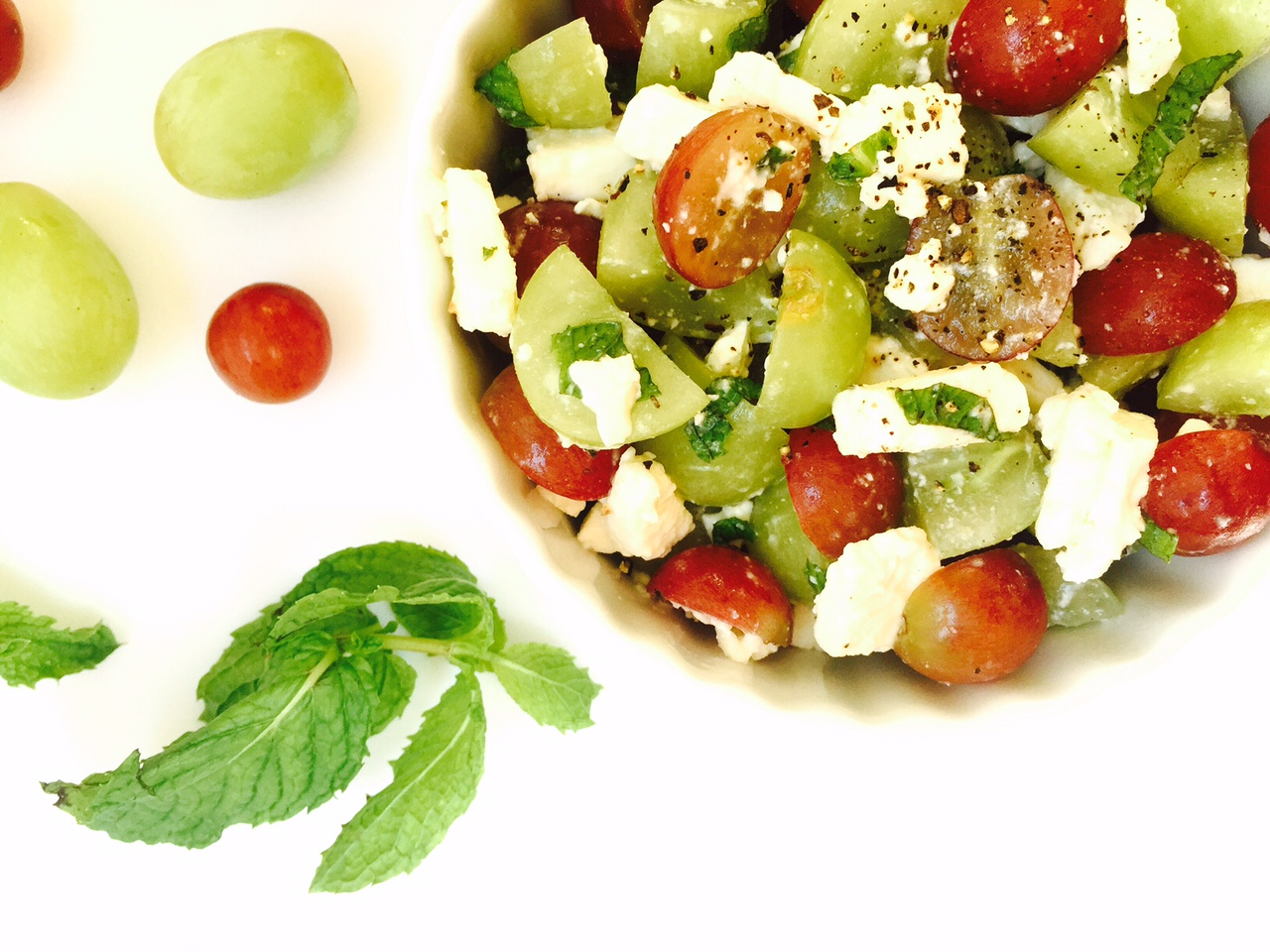 ... feta, crumbled or diced 6-8 mint leaves, chopped or julienned squeeze