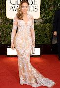 Jennifer Lopez in ZUHAIR MURAD dress. Anne Hathaway in CHANEL dress