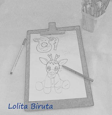 Desenho de rena do nariz vermelho