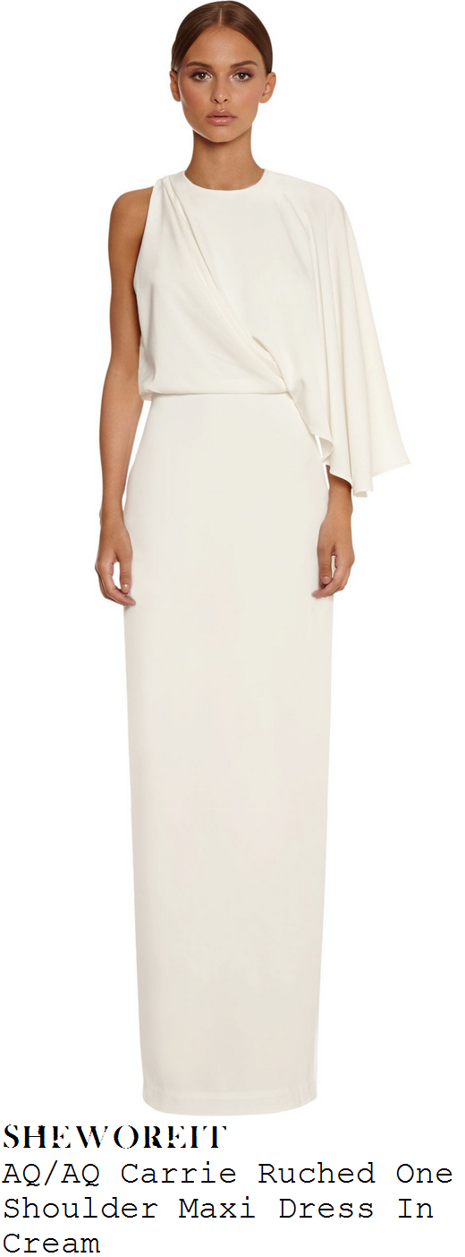 chloe-sims-cream-one-shoulder-long-sleeve-draped-maxi-dress-towie