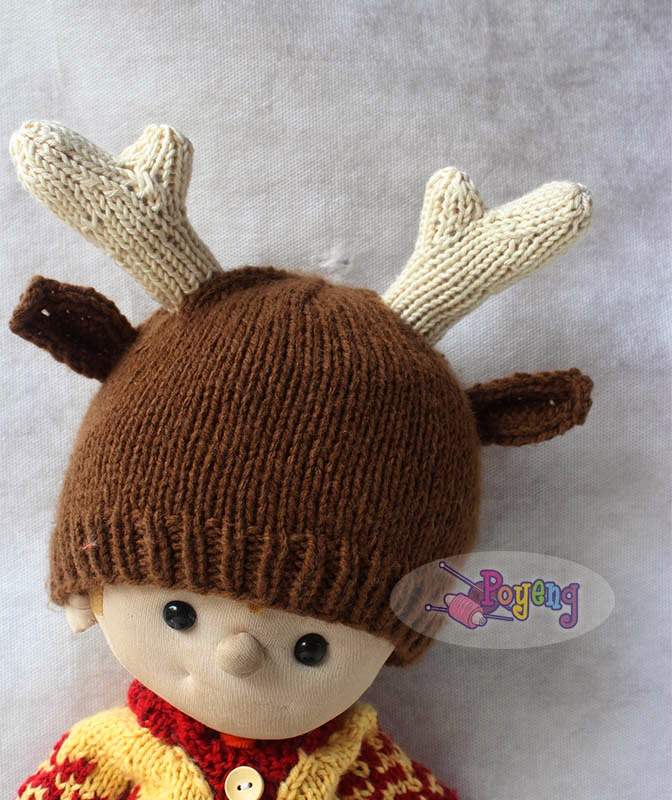 Ajeng Belajar Merajut Rajut Free Knitting Pattern Little Deer Hat