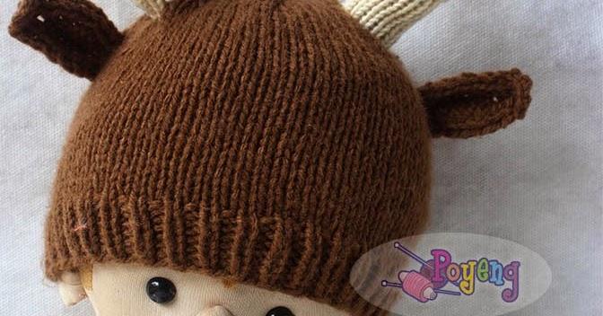 Knitting Pattern Deer Hat : Knitting with Ajeng: Rajut Free Knitting Pattern : Little ...