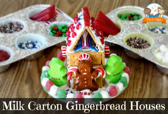 Milk Carton Gingerbread House by Pre-K Pages