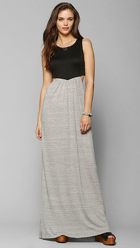 Sporty and effortless black and grey maxi dress from Urban Outfitters