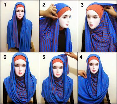 Cara memakai jilbab pasmina